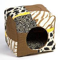 Домик Природа Кубик, хлопковая ткань, 40х40х37 см, фото 1