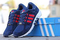 Кроссовки мужские Adidas темно синие с красным  НОВИНКА 2017