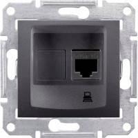 Розетка компьютерная RJ45 кат. 5Е UTP, 1 гнездо, графит, Sсhneider Electric Sedna Шнайдер Седна