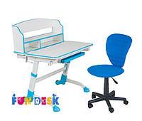 Парта для школьника FunDesk Volare II Blue + Детское кресло LST2