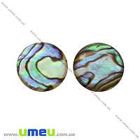 Кабошон нат. камень Перламутр, Круглый, 15 мм, 1 шт (KAB-012670)