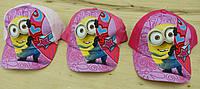 Кепка для девочки Disney Minions. Размеры:  52,54.