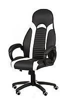 Кресло офисное, компьютерное Aries racer, черно-белое
