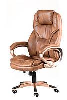 Кресло офисное, компьютерное Bayron bronze, гранж светло-коричневое
