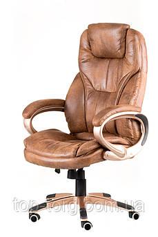 Крісло офісне, комп'ютерне Bayron bronze, гранж світло-коричневе