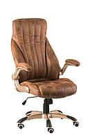 Кресло офисное, компьютерное Conor bronze, гранж светло-коричневое