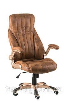 Крісло офісне, комп'ютерне Conor bronze, гранж світло-коричневе