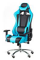Кресло компьютерное, геймерское ExtremeRace black/blue, черно-голубое