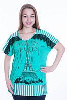 """Летняя женская туника больших размеров """" Париж """""""