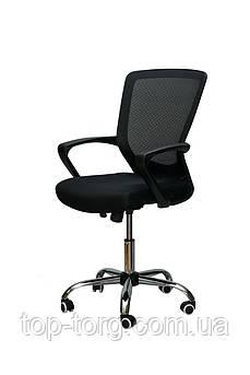Крісло офісне, комп'ютерне Marin black, чорне