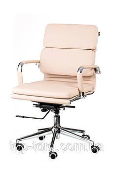 Крісло офісне, комп'ютерне Solano 3 artleather, бежеве
