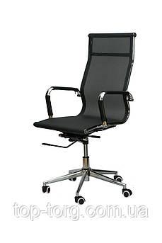 Крісло офісне, комп'ютерне Solano black, чорне