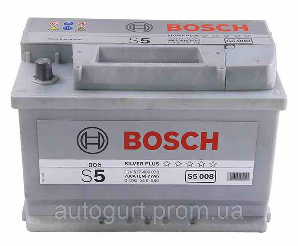 """Аккумулятор Bosch S5 Silver Plus 77Ah, EN780 правый """"+"""" 278x175x190 (ДхШхВ)"""