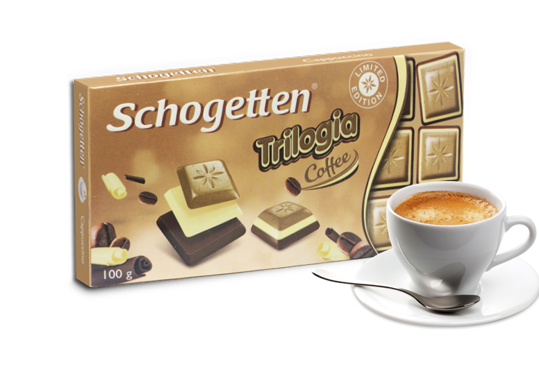 Шоколад Schogetten Trilogia Coffee белый+черный с кофе  100г