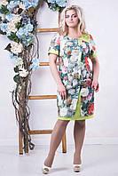 Летнее красивое женское платье Поляна (50-56)