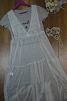 Женское платье с накидкой из сетки., фото 1
