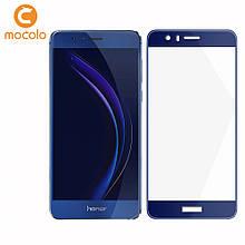 Защитное стекло Mocolo Full сover для Huawei Honor 8 синий