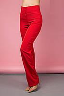 Модные Брюки на Лето с Высокой Талией Красные XS-2XL