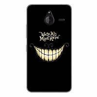 Чехол бампер силиконовый для Microsoft Lumia 640XL с картинкой улыбка