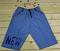 Легкие  шорты для мальчика  Клетка   рост 134-170