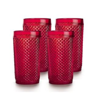 Набор стаканов Vista Alegre Bicos 330 мл 4 шт красных AB21/003259256004