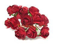 Букет бумажных роз, 1,6см (красные)