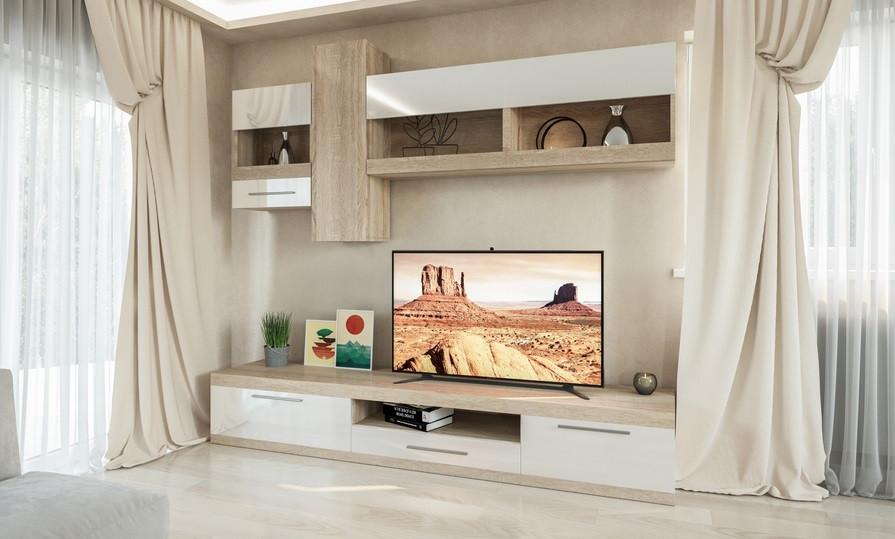 стенка для гостиной пальмира изысканная современная мебель для