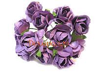 Букет бумажных роз, 1,6см (фиолетовые)