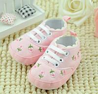 Детские пинетки, кроссовки розовые