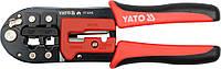 Клещи для обжима телефонных коннекторов, L-200мм, YATO YT-2243