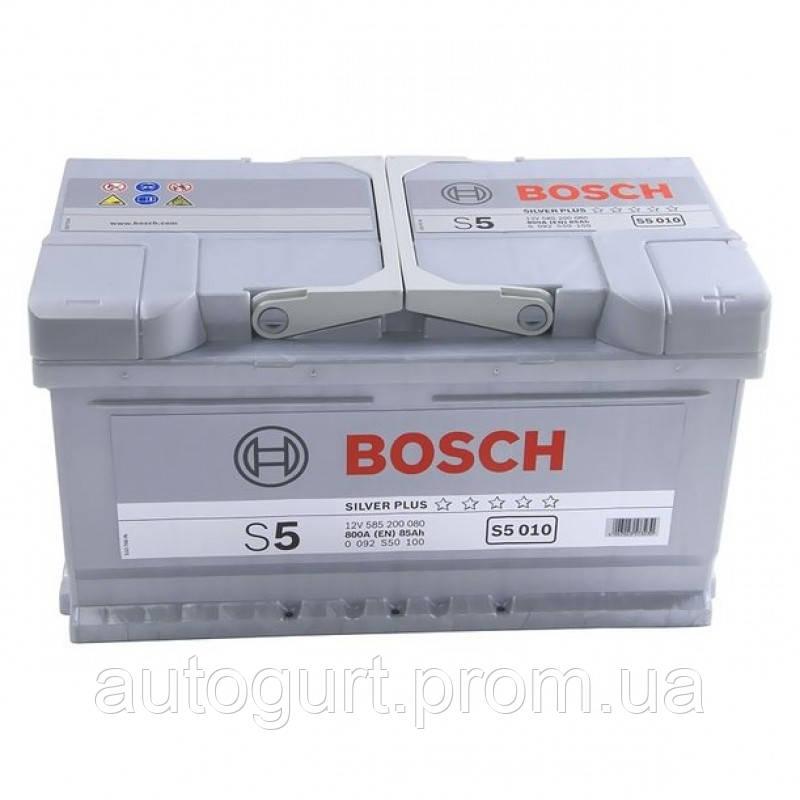 """Аккумулятор Bosch S5 Silver Plus 85Ah, EN800 правый """"+"""" 315x175x175 (ДхШхВ)"""