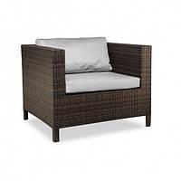 Кресло плетеное из искусственного ротанга TAKEN STRONG коричневое