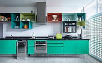 Бирюзовая кухня в стиле модерн, фото 1