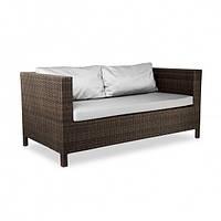 Двухместный диван taken strong плетеный из ротанга искусственного