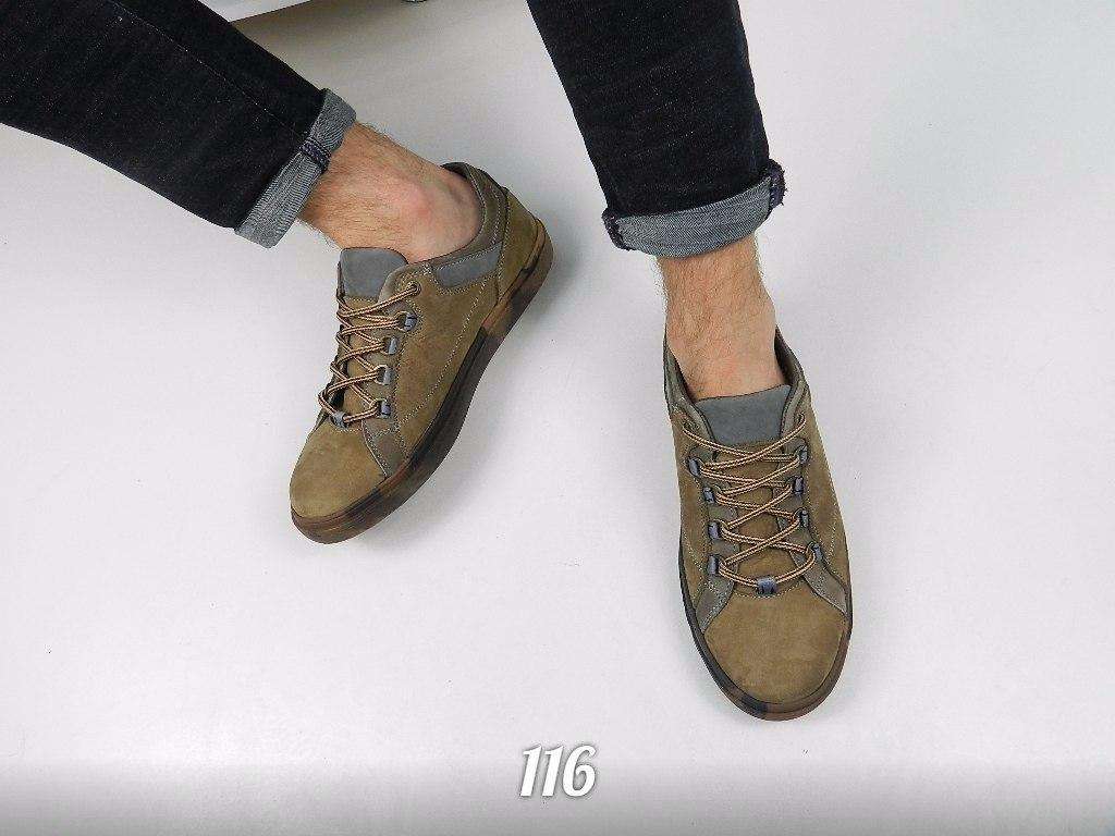 Мокасины мужские кожаные на шнуровке