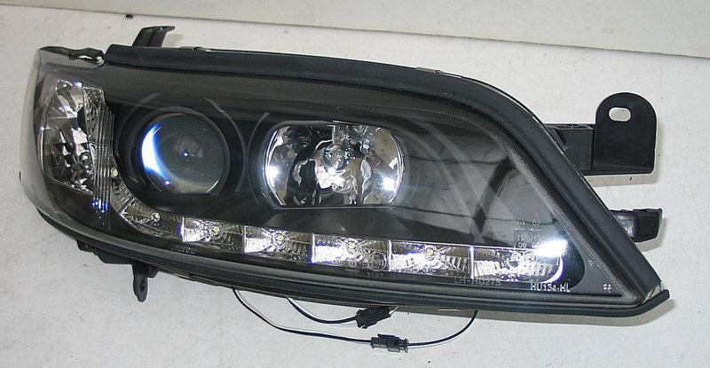 Передние Opel Vectra B альтернативная тюнинг оптика фары тюнинг-оптика