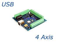 Контроллер шагового двигателя ST-USB  на 4 координаты ЧПУ