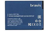Батарея (АКБ, аккумулятор) для Bravis NEO A401, 1650 mAh, оригинал