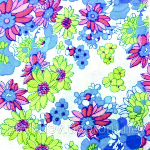 Тканина легкий коттон принт з квітковим малюнком