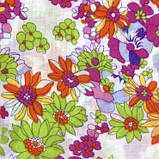 Тканина легкий коттон принт з квітковим малюнком, фото 3