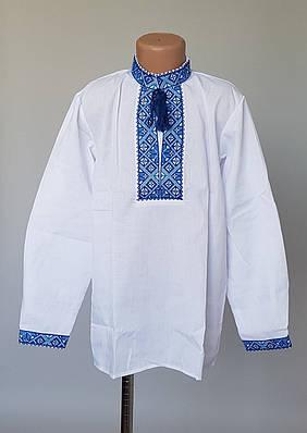 Вышиванка для мальчика голубая вышивка
