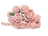 Букет роз из фоамирана 2см (персиковые)