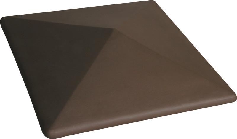 "Крышка для забора LAND BRICK ""прямая"" коричневая 300х300 мм"