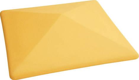 """Крышка для забора LAND BRICK """"прямая"""" желтая 300х300 мм"""