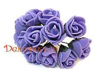 Букет роз из фоамирана 2см (фиолетовые)