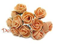 Букет роз из фоамирана 2см (оранжевые)
