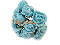 Букет роз из фоамирана 2см (голубые)