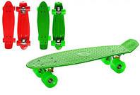 Скейт пенни борд однотонный цвета в ассортименте