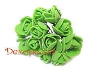 Букет роз из фоамирана 2см (салатовые)