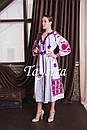 Бохо платье женское вышитое  бохо, вышиванка лен, этно, стиль бохо шик, вишите плаття вишиванка, фото 3